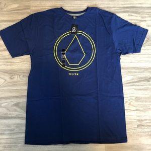 Volcom Men's Royal Blue T-Shirt, Size Large